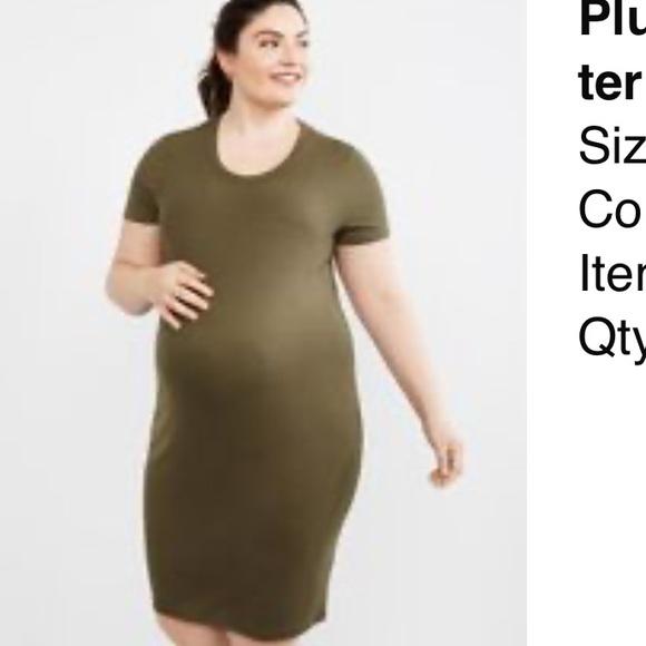 Motherhood Maternity Dresses Plus Size Rib Knit Maternity T Shirt Dress Poshmark